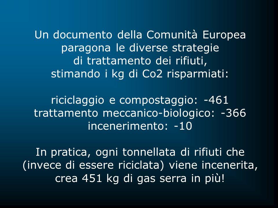 Un documento della Comunità Europea paragona le diverse strategie