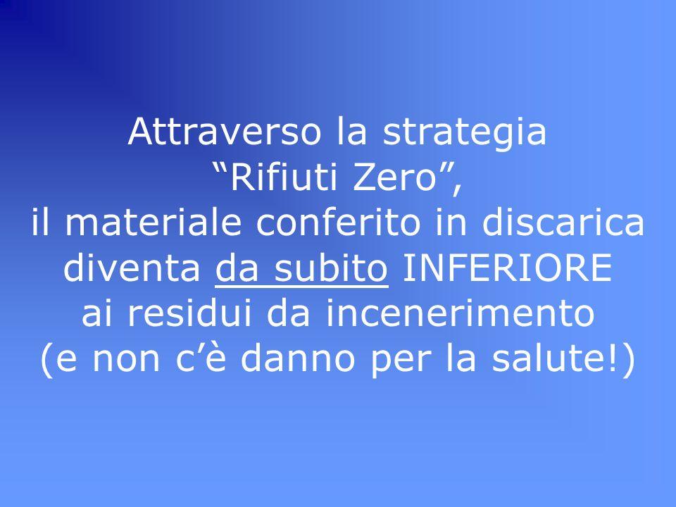 Attraverso la strategia Rifiuti Zero ,