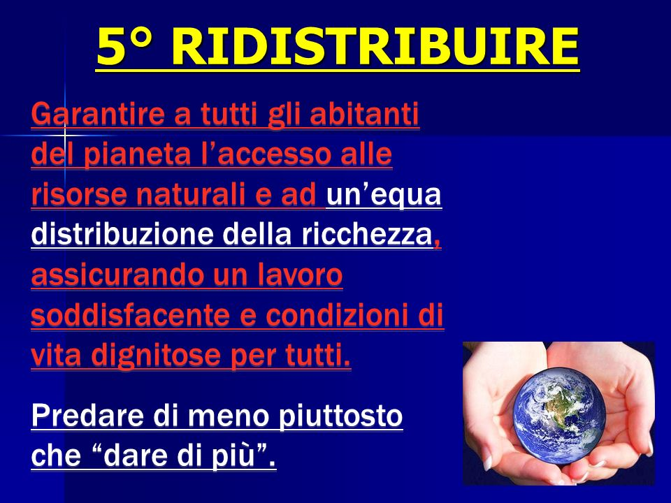 5° RIDISTRIBUIRE