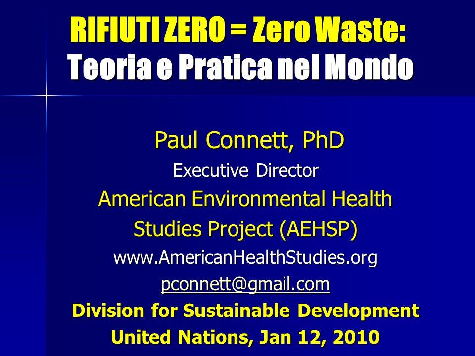 RIFIUTI ZERO = Zero Waste: Teoria e Pratica nel Mondo