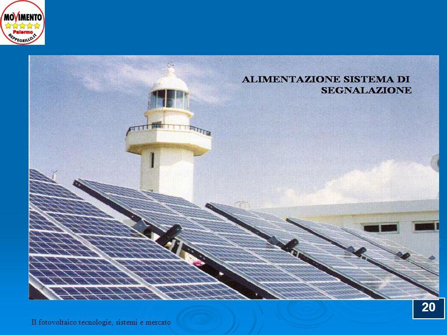 20 Il fotovoltaico:tecnologie, sistemi e mercato