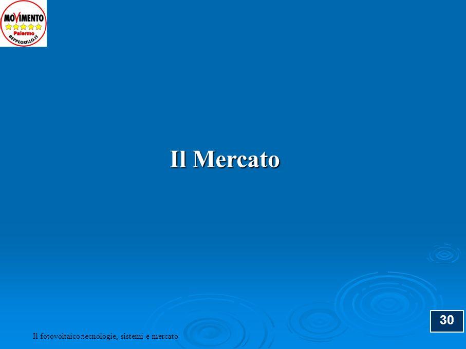 Il Mercato 30 Il fotovoltaico:tecnologie, sistemi e mercato