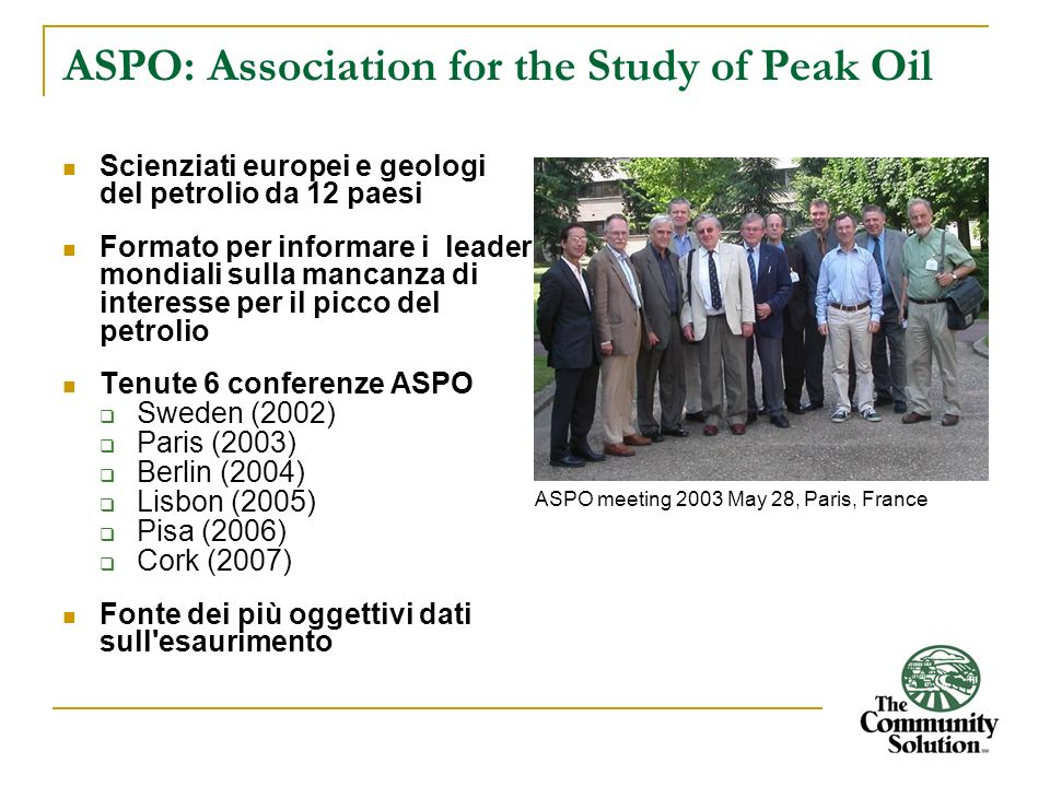 ASPO: Association for the Study of Peak Oil