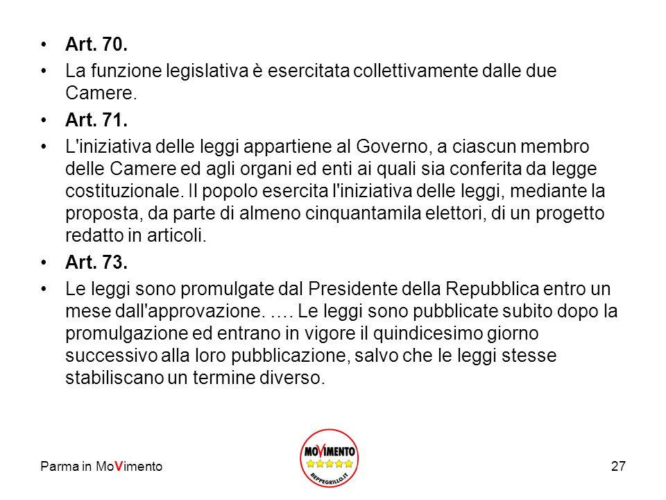 La funzione legislativa è esercitata collettivamente dalle due Camere.