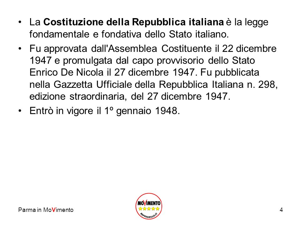 Entrò in vigore il 1º gennaio 1948.