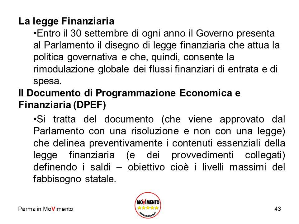 Il Documento di Programmazione Economica e Finanziaria (DPEF)
