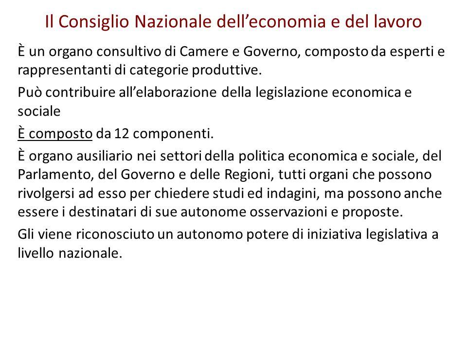 Il Consiglio Nazionale dell'economia e del lavoro