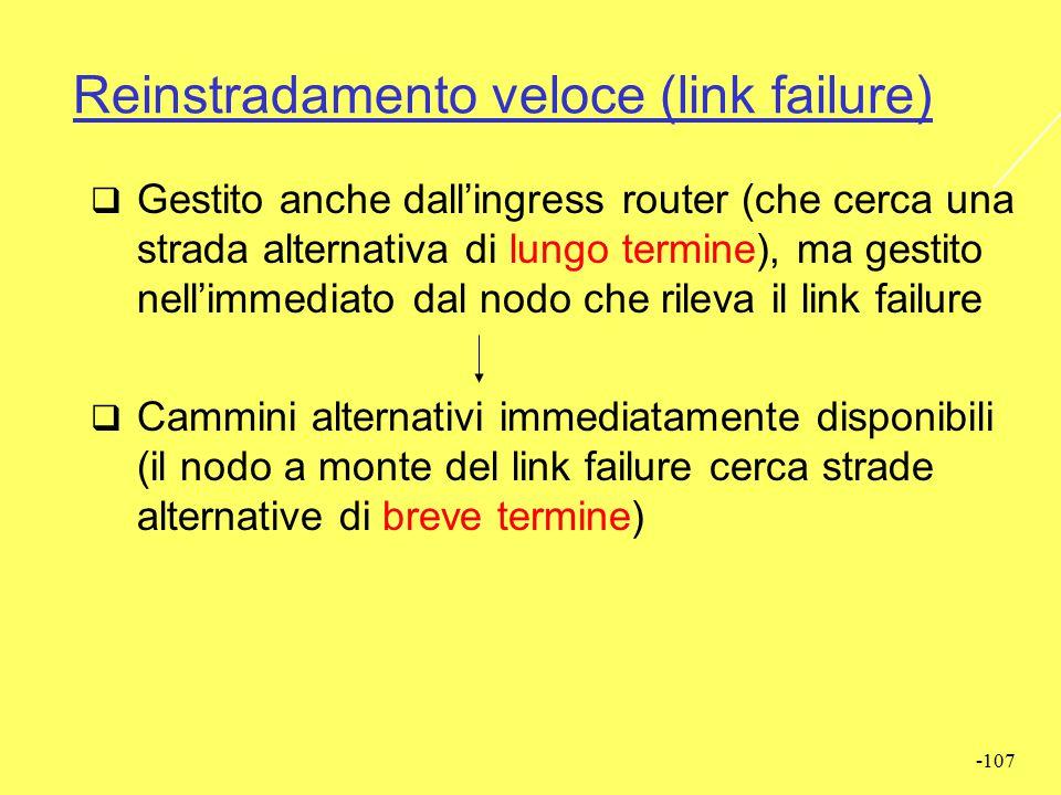 Reinstradamento veloce (link failure)
