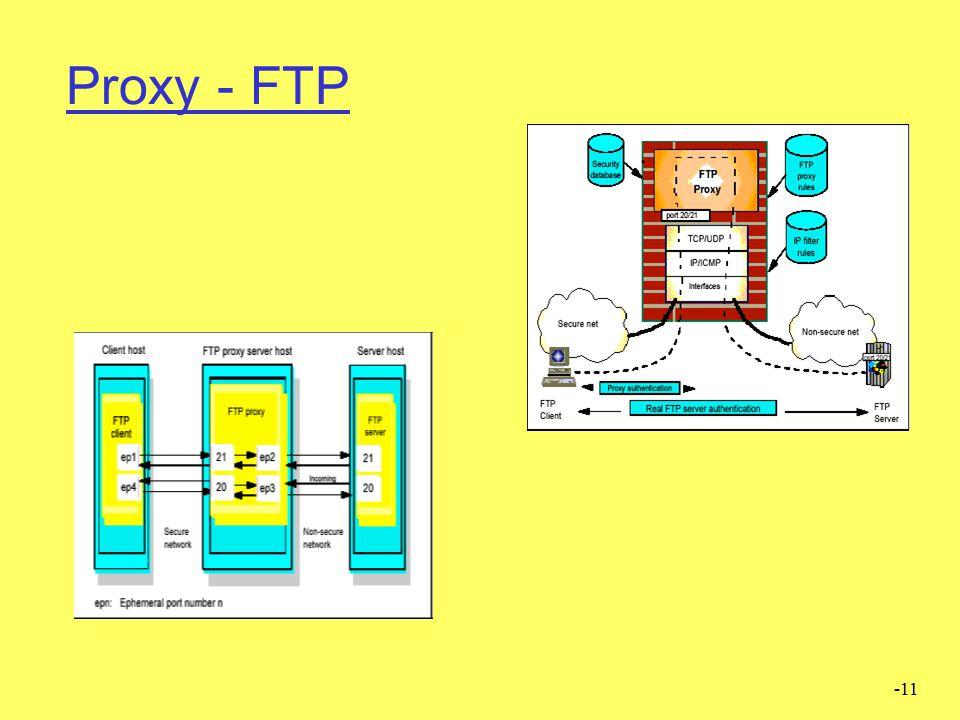 Proxy - FTP