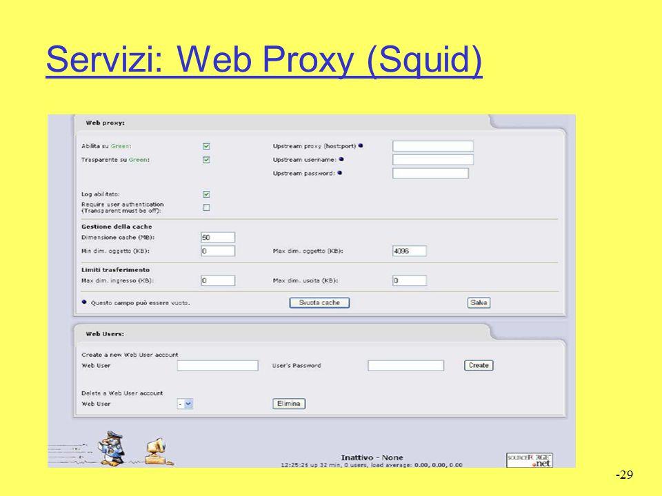 Servizi: Web Proxy (Squid)