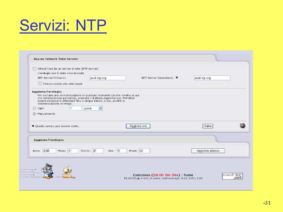 Servizi: NTP