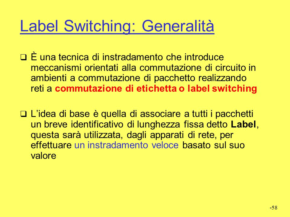 Label Switching: Generalità