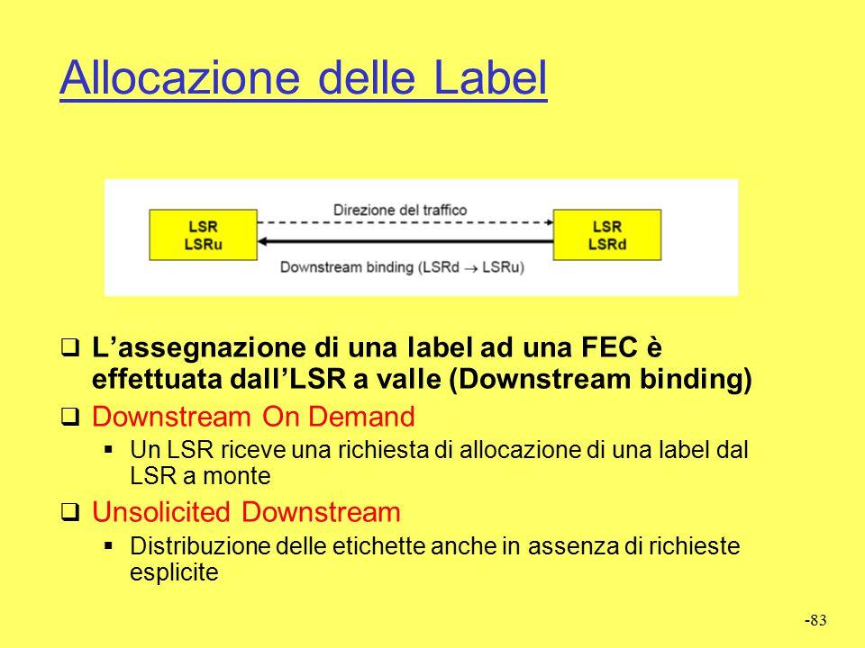 Allocazione delle Label