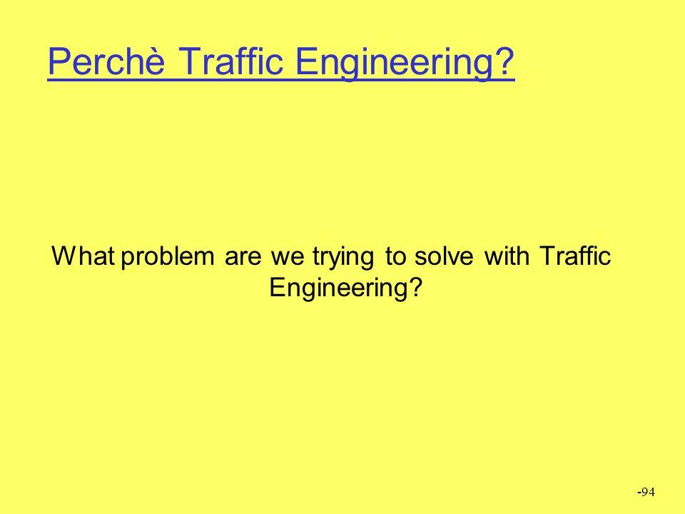 Perchè Traffic Engineering