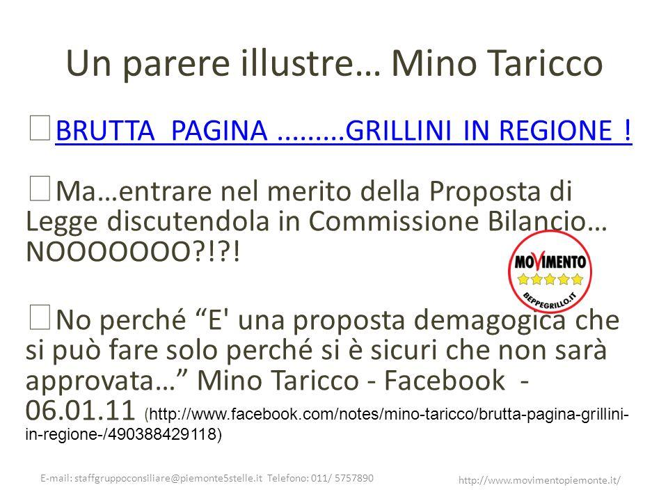 Un parere illustre… Mino Taricco