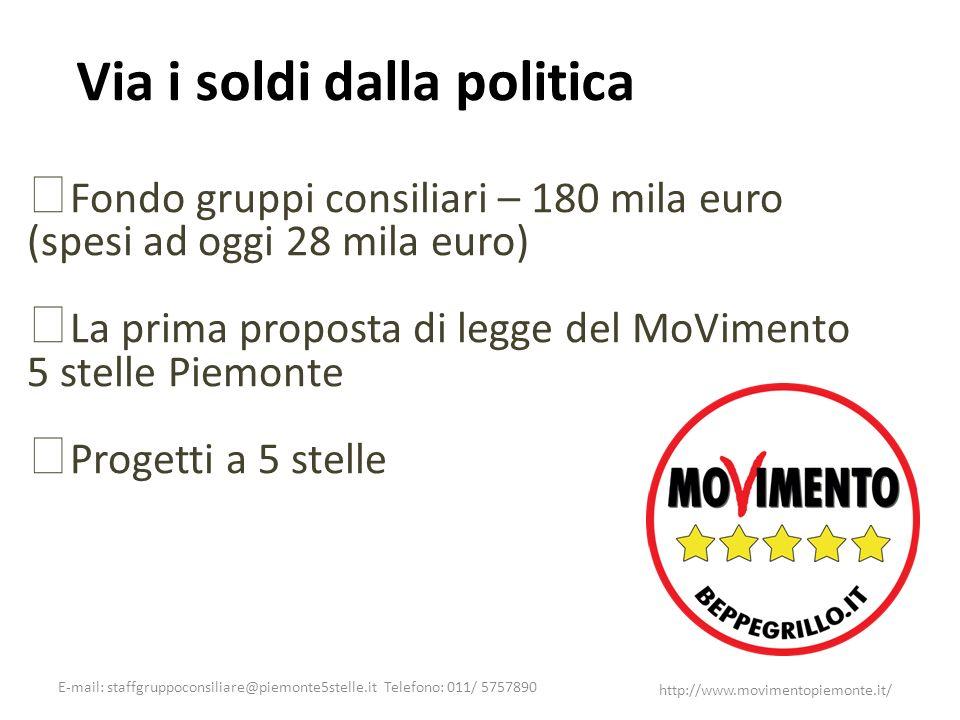 Via i soldi dalla politica