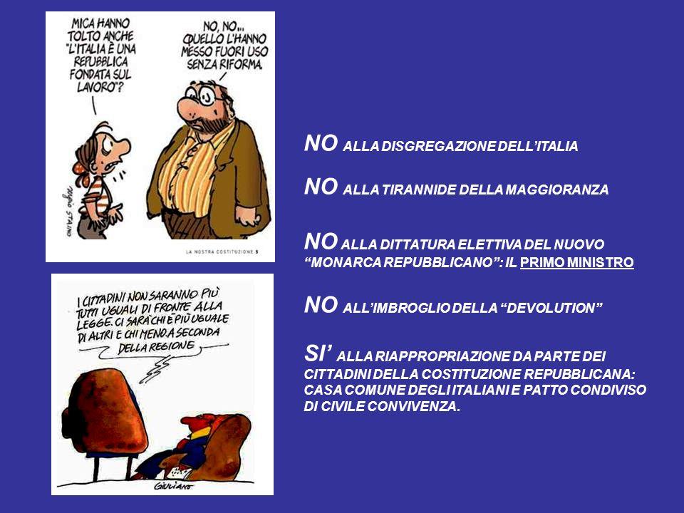 NO ALLA DISGREGAZIONE DELL'ITALIA