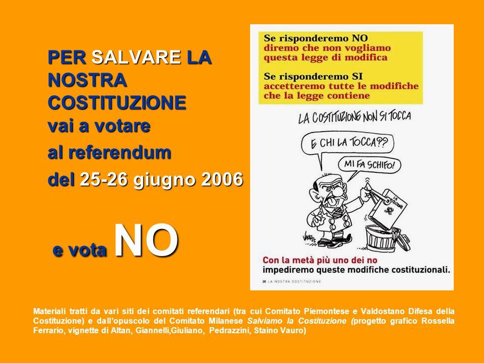PER SALVARE LA NOSTRA COSTITUZIONE vai a votare