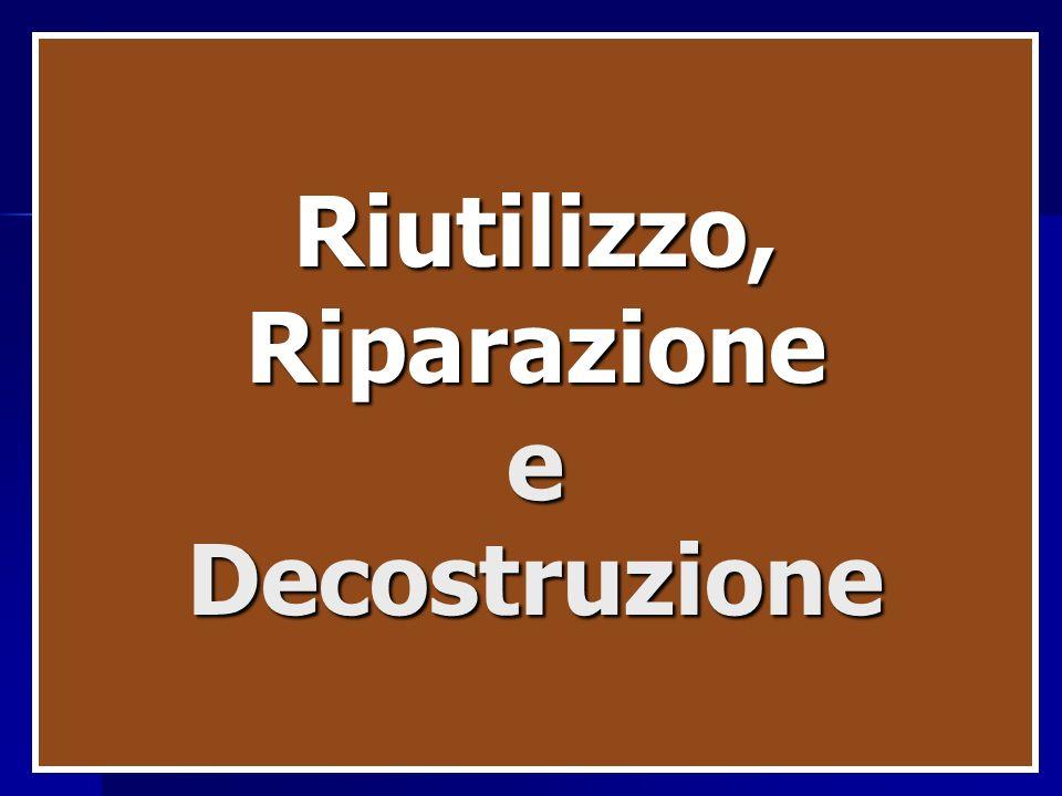Riutilizzo, Riparazione e Decostruzione