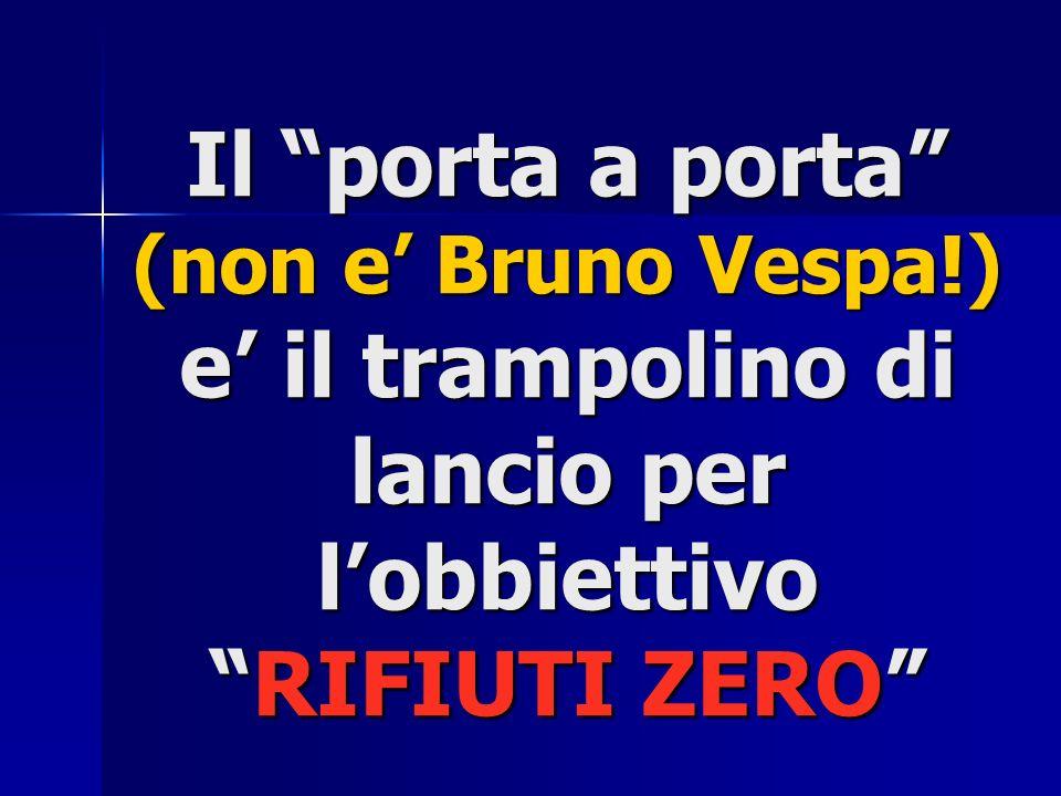 Il porta a porta (non e' Bruno Vespa