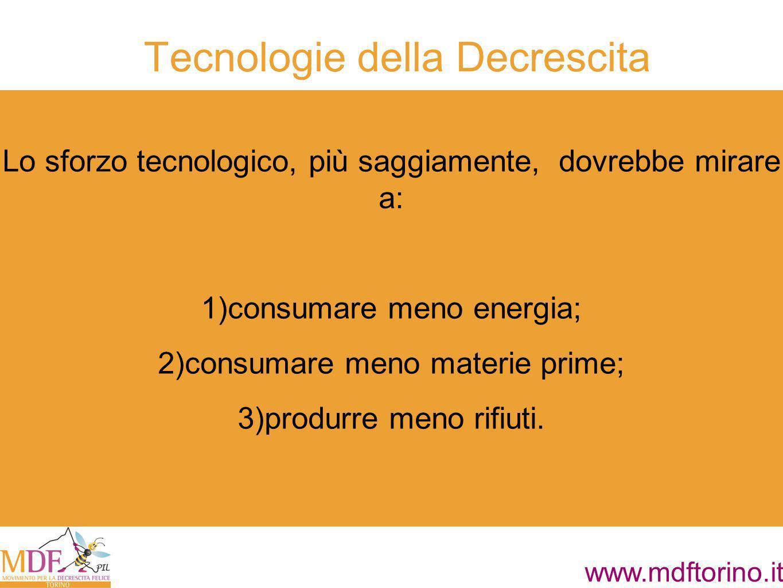 Tecnologie della Decrescita
