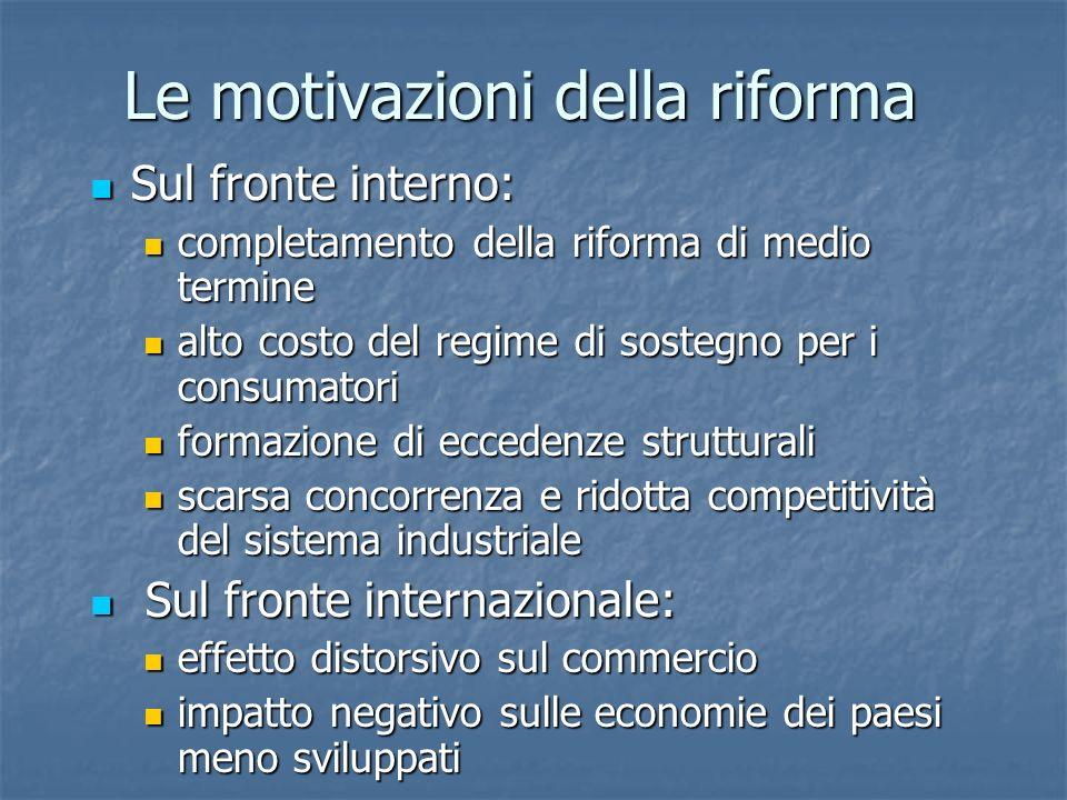 Le motivazioni della riforma