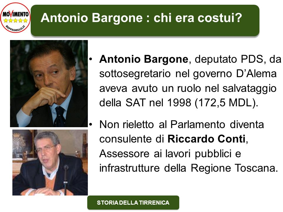 Antonio Bargone : chi era costui