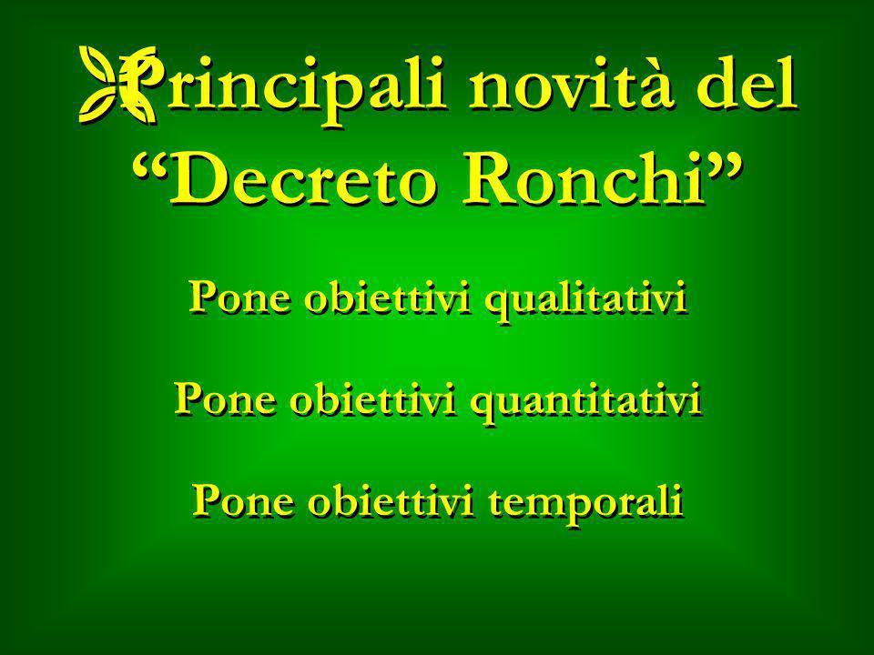 Principali novità del Decreto Ronchi