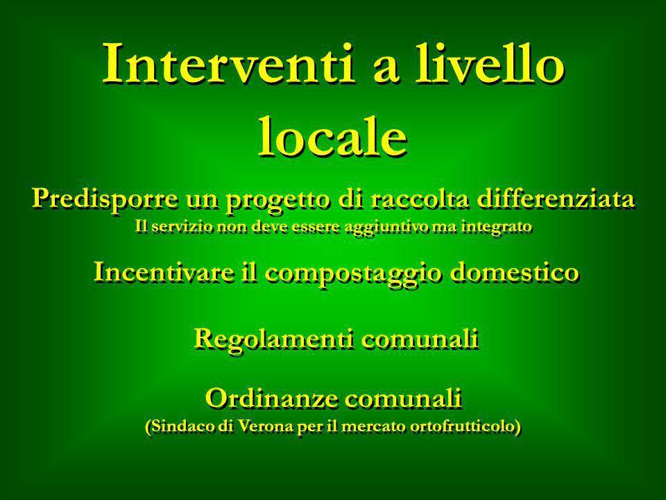 Interventi a livello locale