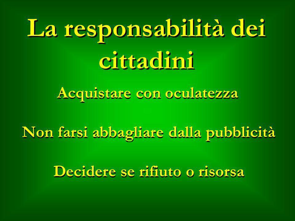 La responsabilità dei cittadini