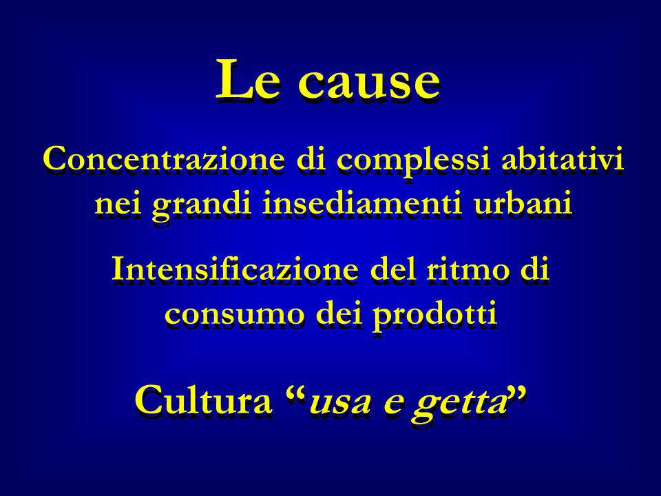 Le cause Cultura usa e getta