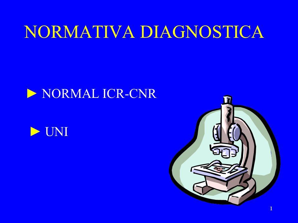 NORMATIVA DIAGNOSTICA