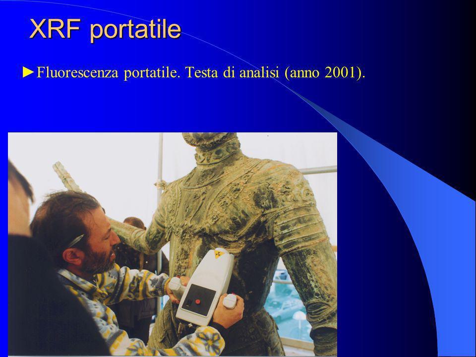 XRF portatile ►Fluorescenza portatile. Testa di analisi (anno 2001).