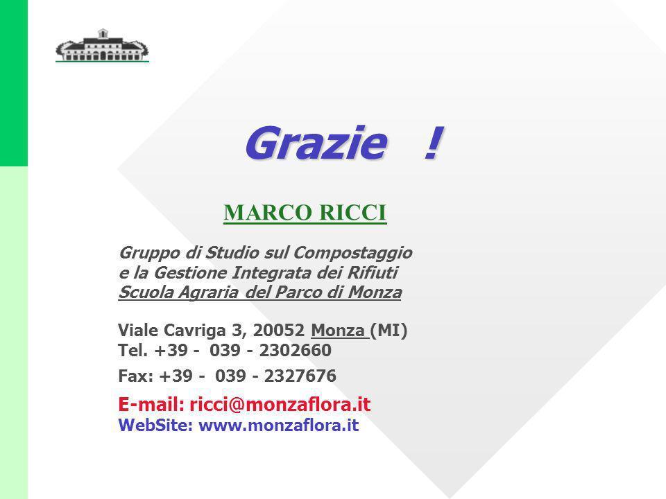 Grazie ! MARCO RICCI E-mail: ricci@monzaflora.it