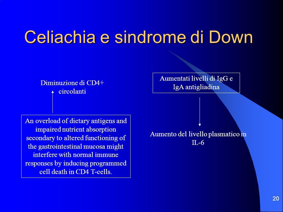 Celiachia e sindrome di Down