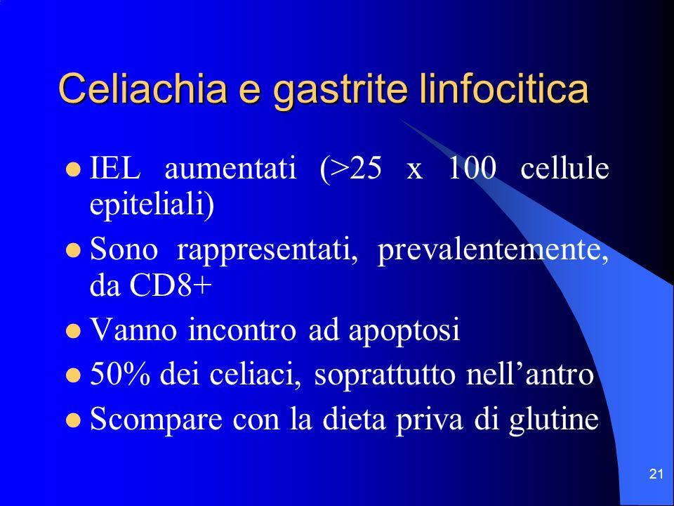 Celiachia e gastrite linfocitica
