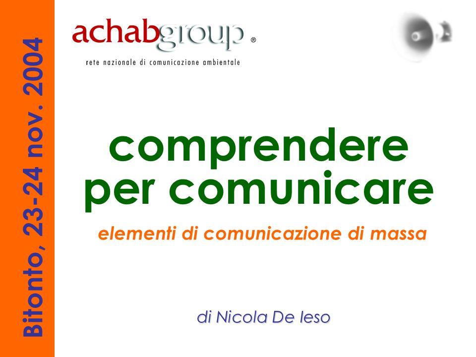 comprendere per comunicare elementi di comunicazione di massa