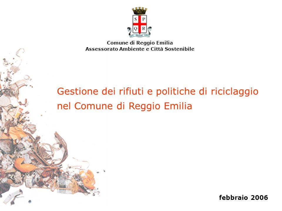 Comune di Reggio Emilia Assessorato Ambiente e Città Sostenibile