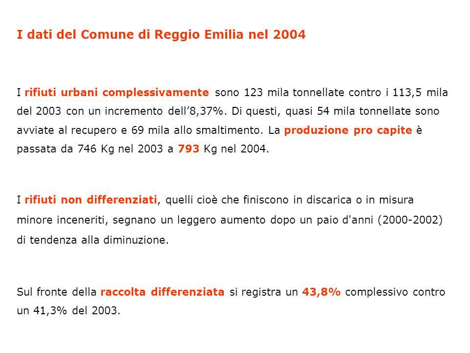 I dati del Comune di Reggio Emilia nel 2004