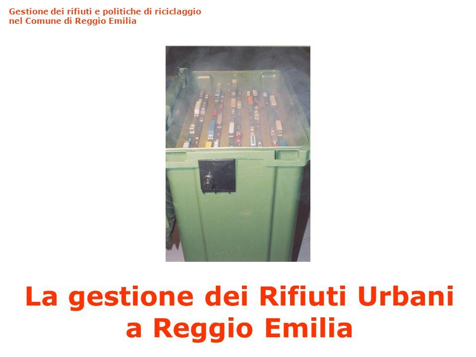La gestione dei Rifiuti Urbani