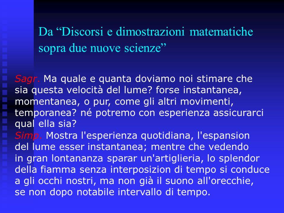 Da Discorsi e dimostrazioni matematiche sopra due nuove scienze