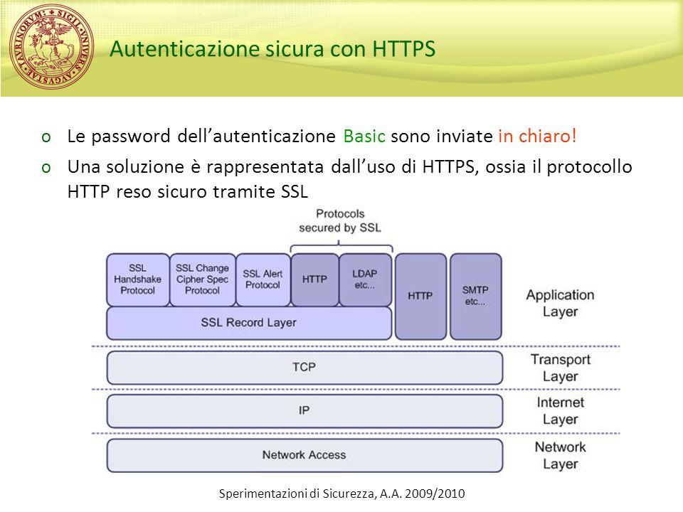 Autenticazione sicura con HTTPS