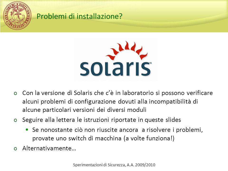 Problemi di installazione