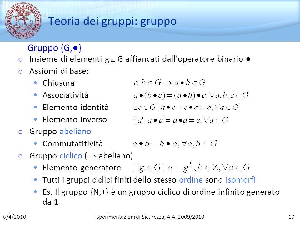 Teoria dei gruppi: gruppo