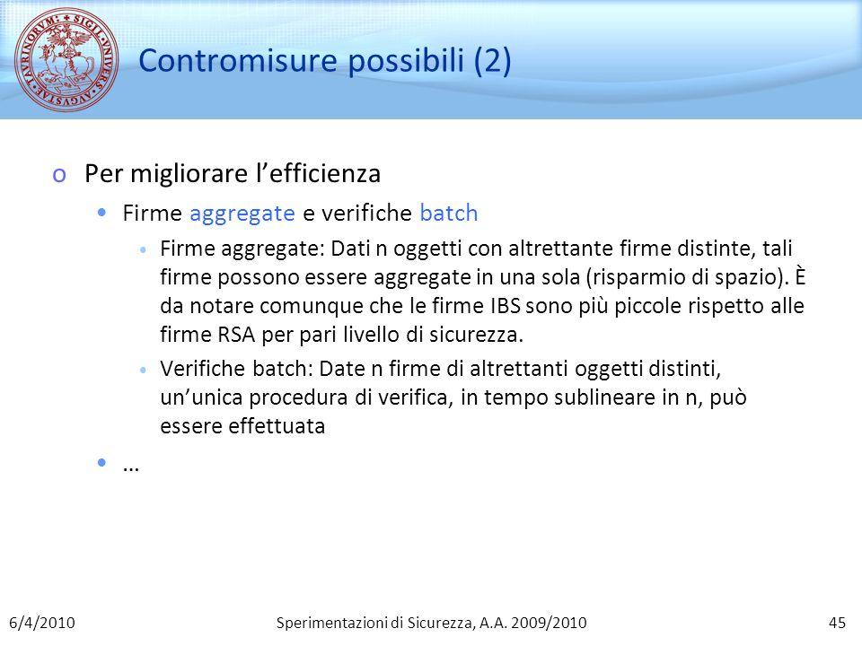 Contromisure possibili (2)