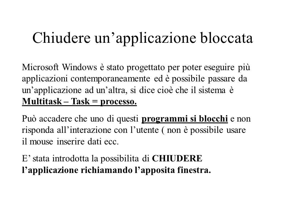 Chiudere un'applicazione bloccata