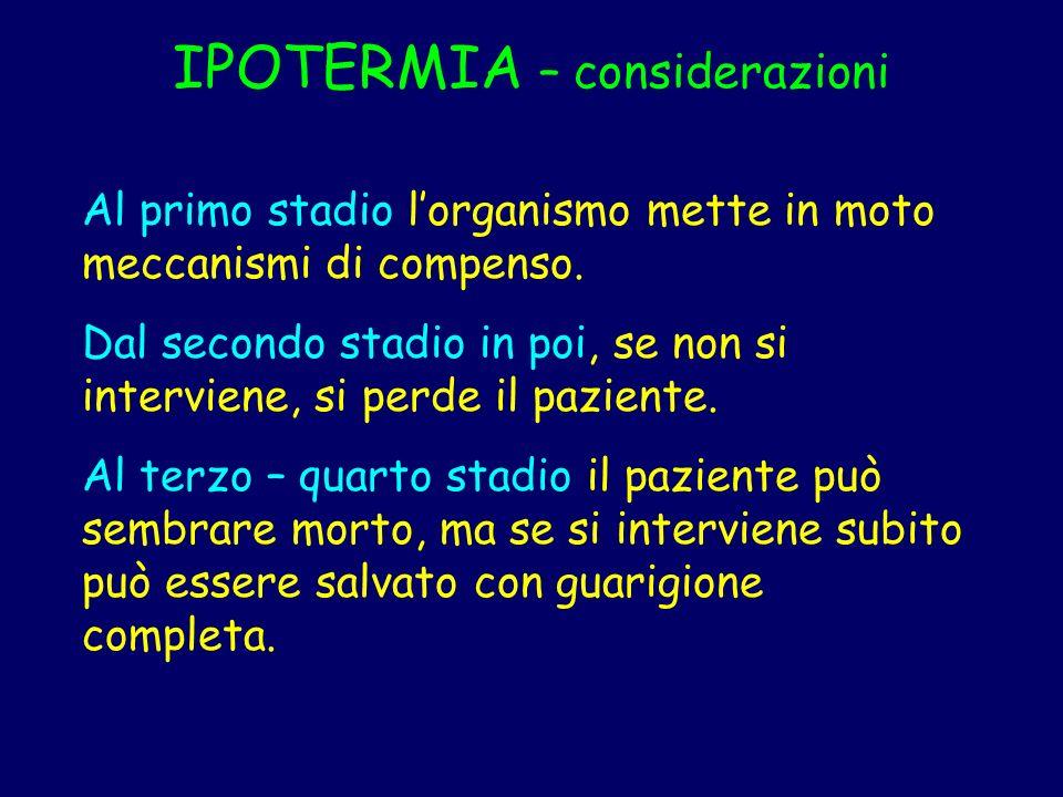 IPOTERMIA – considerazioni