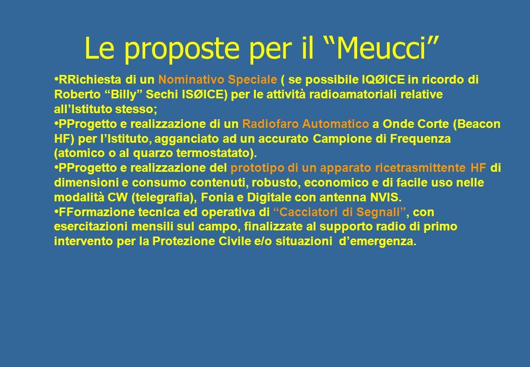 Le proposte per il Meucci