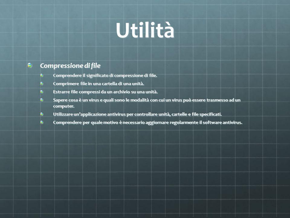Utilità Compressione di file