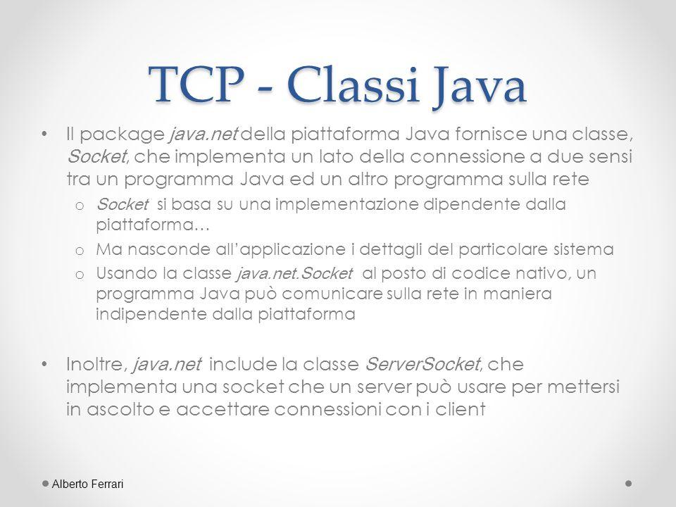 TCP - Classi Java